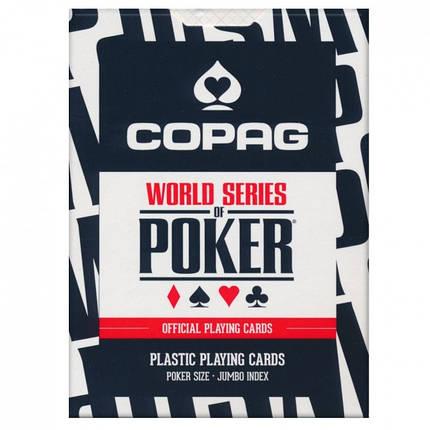 Пластикові гральні карти | Copag WSOP Black, фото 2