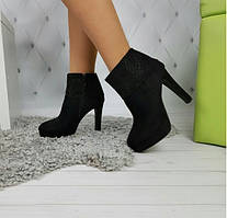 Ботильоны ботинки женские демисезонные черные на шпильке