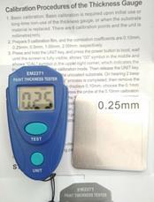 Толщиномер ЛКП краски EM2271 с калибровочными пластинами, фото 2