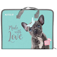 Папка-портфель на молнии Kite Studio Pets SP19-202, А4
