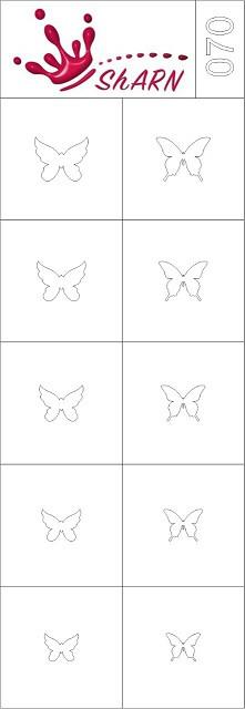 070 Трафарет для аэрографии на ногтях