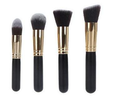 Набор профессиональных кистей для макияжа лица 4 шт