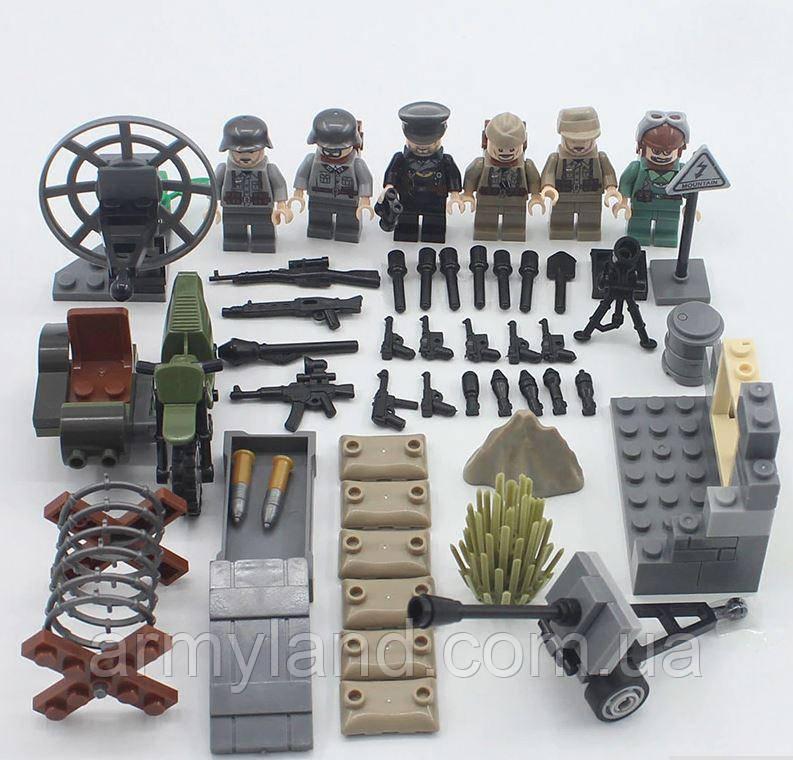 Германия, защита квартала, Worlf of War II военный конструктор , аналог лего, BrickArms