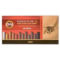 Мел-пастель Koh-i-Noor T D'OR 8522 12 шт коричневые оттенки