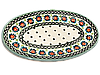 Блюдо сервировочное плоское овальное маленькое