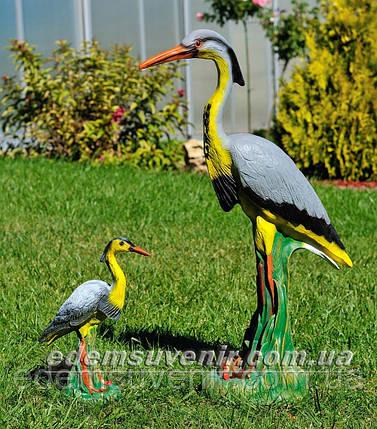 Садовая фигура Цапля большая и Цапля малая, фото 2