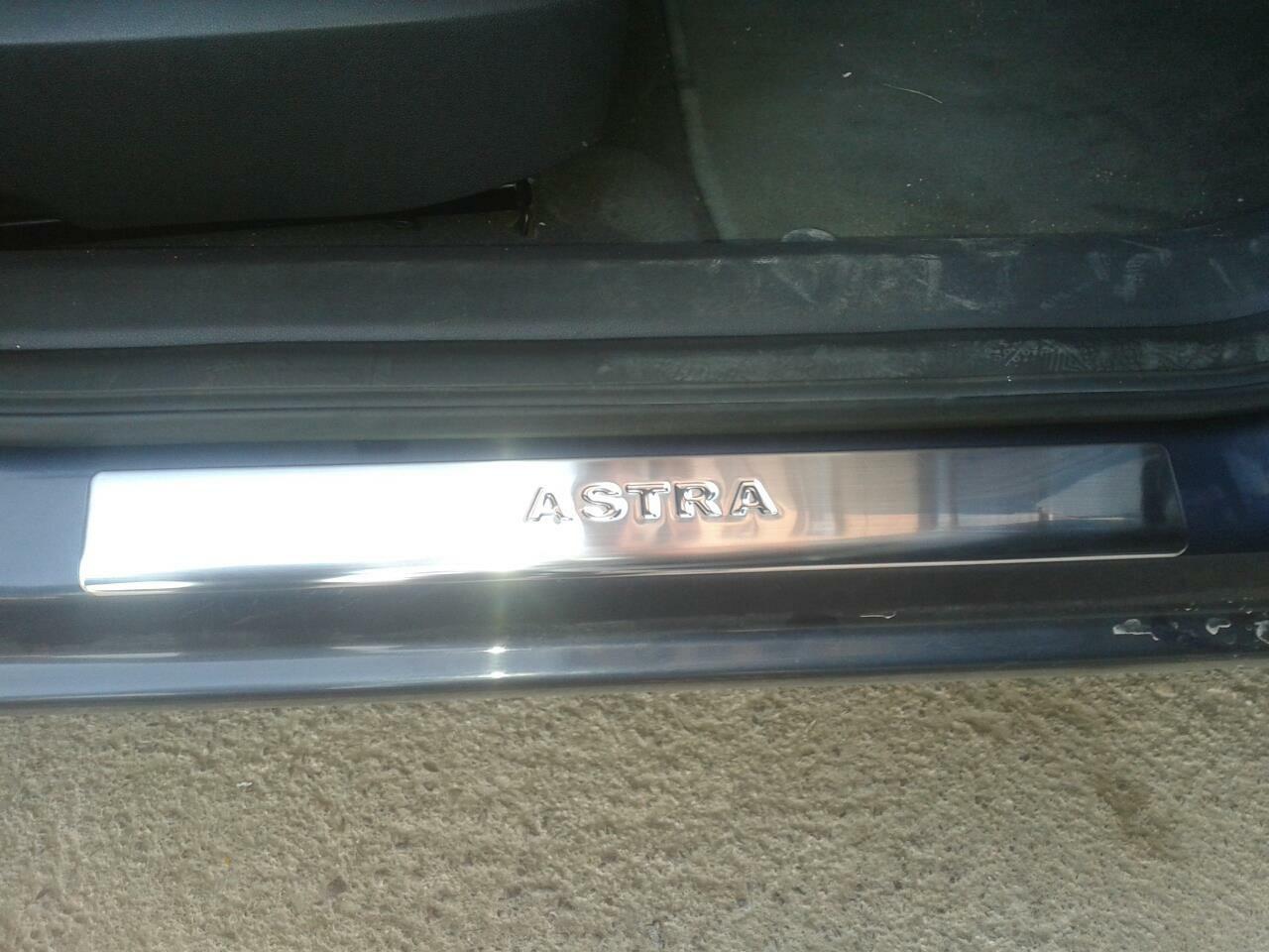Накладки на пороги OmsaLine (4 шт, нерж) Opel Astra J 2010↗ гг.