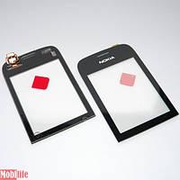 Сенсорное стекло (тачскрин) для Nokia Asha 202, 203 Черный