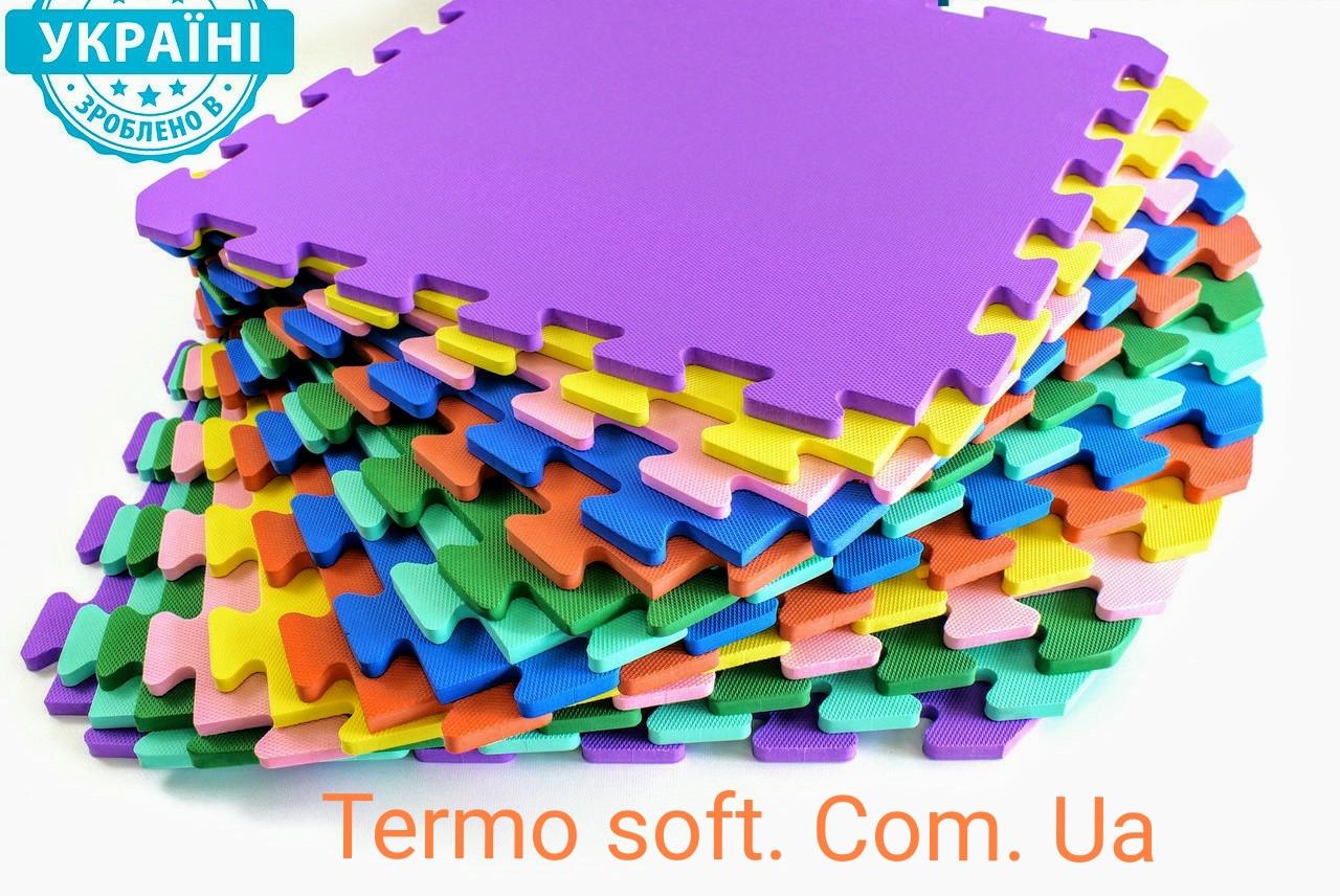 Коврик-пазл (мягкий пол) для детских комнат и спортивных залов, (EVA) 50х50х1см (УКРАИНА)