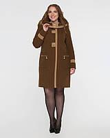 Демисезонное пальто с капюшоном,большие размеры рр 50-62, фото 1