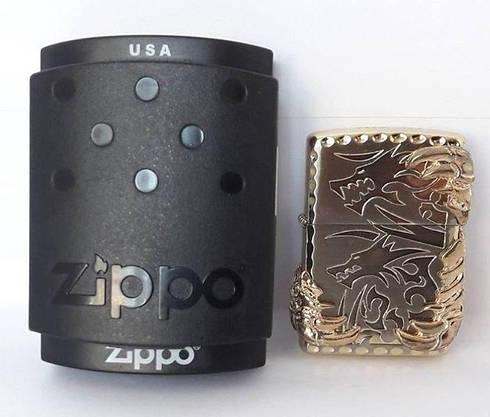 Запальничка Бензинова ZIPPO (Кігті Дракона - Silver), фото 3