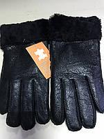 Перчатки чёрные женские и подросток из натуральной овчины