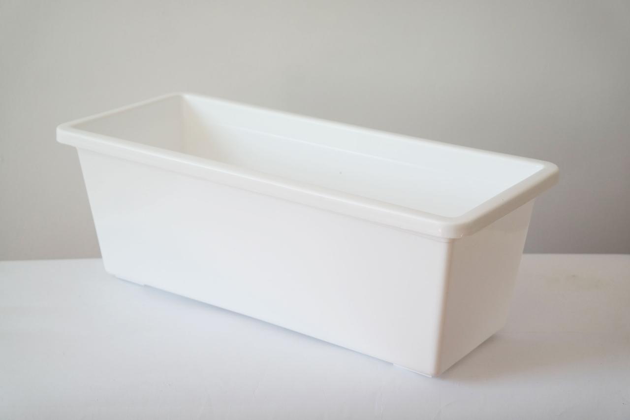 Балконный ящик 70 см 9 литра Белого Цвета