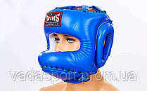 Шлем боксерский с бампером кожаный TWINS HGL-10-BU-L