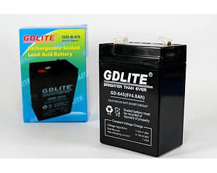 Аккумулятор батарея BATTERY GDLITE GD-645 6V 4A Зеленый GD LITE