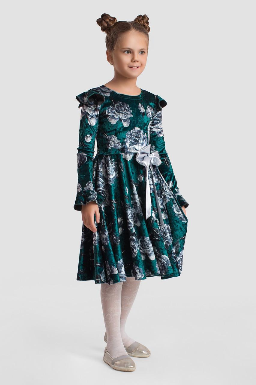 Платье LiLove 2-139 122-128 зеленый