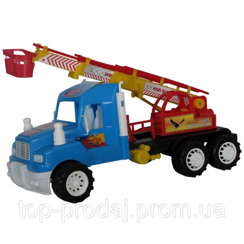 Машина Хеви Дьюти Пожарная, инерция 15-004, инерционная машинка, игрушечный грузовик