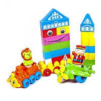 Набор конструктора.114 дет. а пакете   02-304, конструктор для малышей, развивающий конструктор