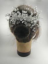 Гребінь з кришталевими намистинами і стразами прикраса у зачіску Ажурний