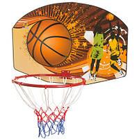 Баскетбольное кольцо со щитом и сеткой (диаметр 45 см)