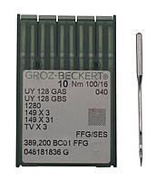 Иголка к швейной машинке, GROZ-BECKERT, UY 128 GAS №100/16