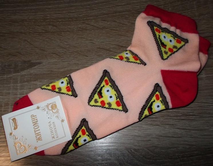 Носки женские пицца размер 23-35