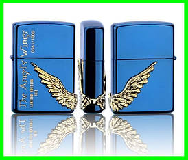 Зажигалка ZIPPO Бензиновая (Angel Wings - Blue)