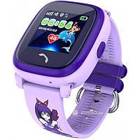 Детские смарт часы с GPS трекером DF25 Kids waterproof smart watch Purple  Акция -34% 67210bfea2798