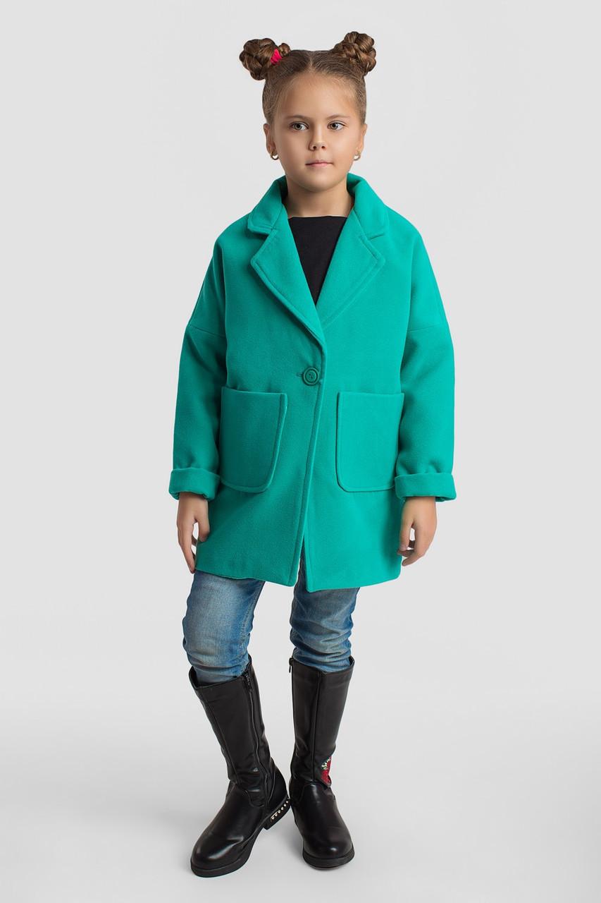 Пальто LiLove 5-135 128-134 зеленый