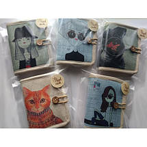 Текстильный кошелек Кот в очках, фото 3