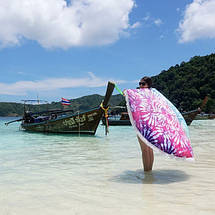 Круглое пляжное полотенце Акварели. Микрофибра, фото 2