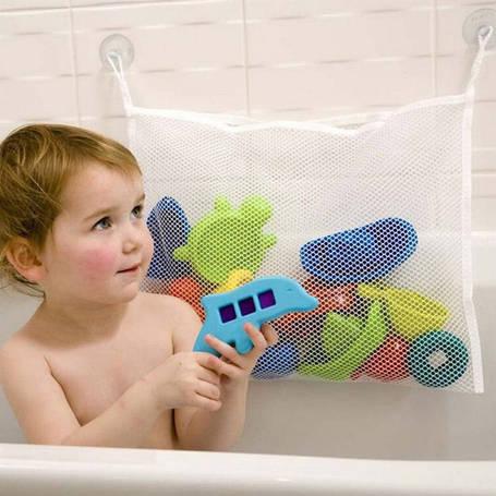 Органайзер для детских игрушек на присосках в ванную. Toys bag Medium, фото 2