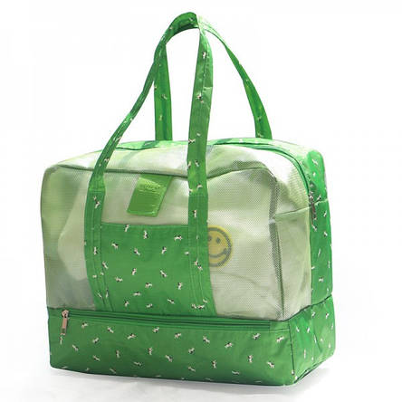 Пляжная сумка Weekeight. Зеленый далматин, фото 2