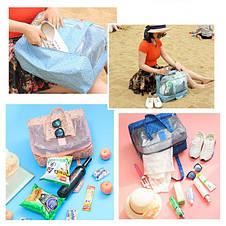 Пляжная сумка Weekeight. Зеленый далматин, фото 3