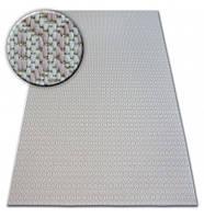Ковер Лущув Flat 140x200 см белый прямоугольный (B746)