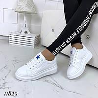 Жіночі кріпери кросівки білі, фото 1