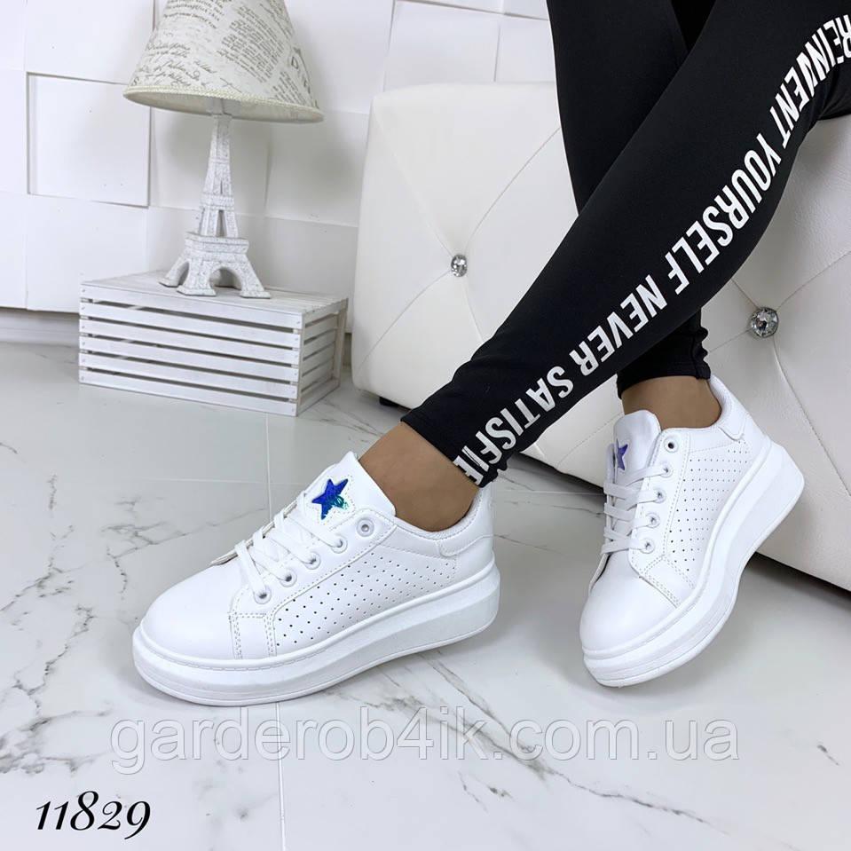 Жіночі кріпери кросівки білі