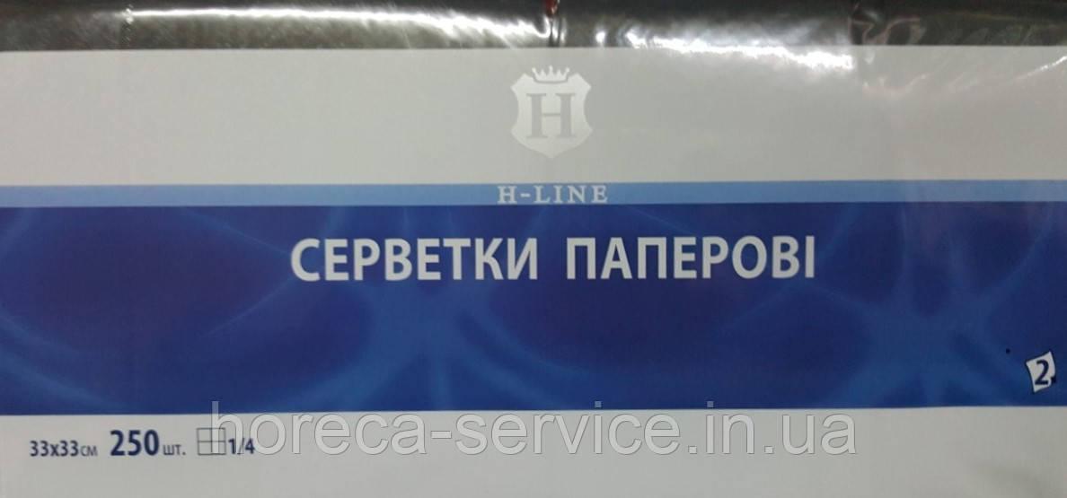 Салфетки Professional 33 х 33 1/4 сложения 250 шт двухслойные черные