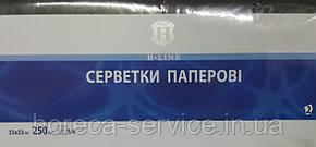 Салфетки Professional 33 х 33 1/4 сложения 250 шт двухслойные черные , фото 2