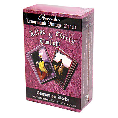 Вишневые и лиловые сумерки - карты Ленорман Lilac & Cherry Twilight Lenormand Vintage Oracle