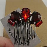 Гребінь Червоний Міні-прикраса у зачіску, фото 7