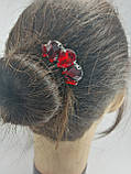 Гребінь Червоний Міні-прикраса у зачіску, фото 2