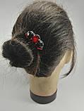 Гребінь Червоний Міні-прикраса у зачіску, фото 4