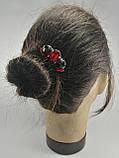 Гребінь Червоний Міні-прикраса у зачіску, фото 6