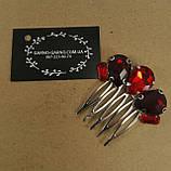Гребінь Червоний Міні-прикраса у зачіску, фото 5