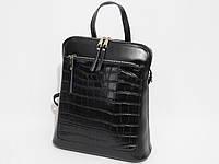 Рюкзак из натуральной кожи черного цвета, фото 1