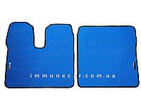 Автоковры в кабину для MAN TGX автомат из материала EVA cинего цвета