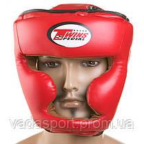 Шлем боксерский закрытый красный Flex Twins TW475-R