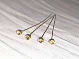 Піни гвоздики з фігурною головкою 5 см золото №19 біжутерні, фото 2