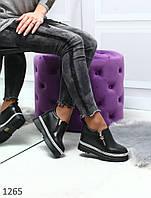 Женские туфли сникерсы, скрытая танкетка, фото 1